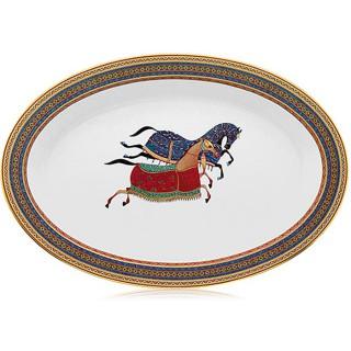 Блюдо Hermes Cheval d'Orient 36 см (6401) овальное - bludohermesjs_enlhn.jpg