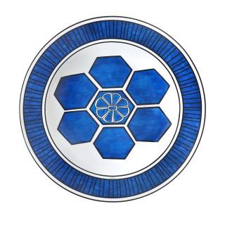 Блюдо круглое Hermes Bleus d'Ailleurs 29.5 см -