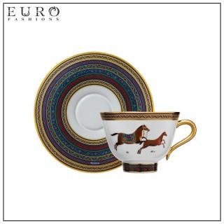 Чайная пара (чашка с блюдцем) Hermes Cheval d'Orient 230 мл (6430) -