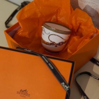 Кофейная пара (чашка с блюдцем) Hermes Cheval d'Orient 120 мл (6431) -