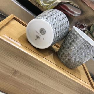 """Пара чашек для чая HERMES """"MOSAIQUE AU 24 Platine"""" (190 мл.)  -"""
