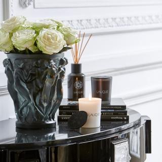 Ваза Lalique Bacchantes Темно-зеленая -
