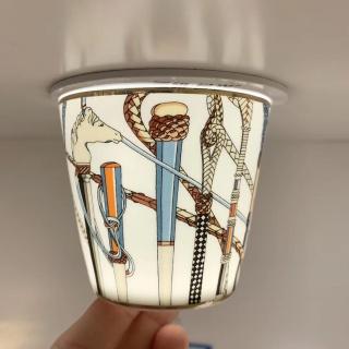 Пара стаканов Hermes Cheval d'Orient 190 мл, оранж./белая (10439) -