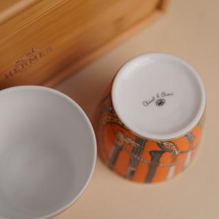 Пара стаканов Hermes Cheval d'Orient 190 мл, оранж./оранж. (10440) -