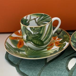 Кофейная пара (чашка с блюдцем) Hermes Passifolia 120 мл (10742) -