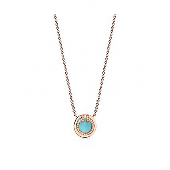 Кулон Tiffany T Diamond and Turquoise 11351