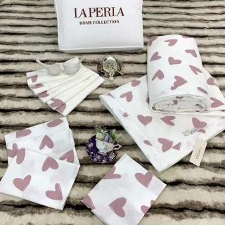 Постельное белье La Perla, розовые сердечки (10454) -