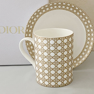 Кружка 290 мл с блюдцем Christian Dior (10654) -