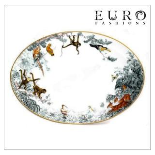 Блюдо Hermes Carnets d'Equateur 36,5 x 26 см (7355) овальное -