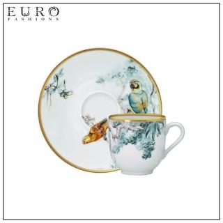 """Чашка для кофе с блюдцем HERMES """"CARNETS D'EQUATEUR"""" -"""