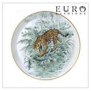 """Тарелка сервировочная Hermes Carnets d'Equateur 31 см (7356) - Сервировочная тарелка HERMES """"CARNETS D'EQUATEUR"""" с великолепными рисунками Робера Далле"""