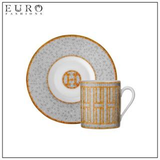 """Чашка для кофе с блюдцем HERMES """"MOSAIQUE AU 24"""" -"""