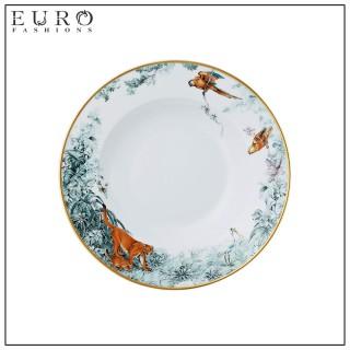 "Тарелка суповая HERMES ""CARNETS D'EQUATEUR"" 21 см -"