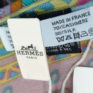 Платок Hermes кашемир+шелк (10561) -