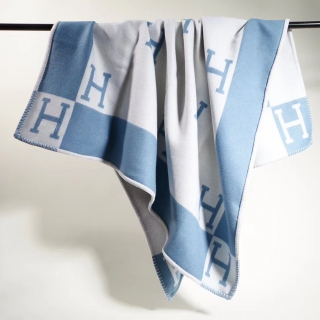 Плед Hermes baby blue 6863 -