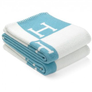 Плед Hermes baby blue -
