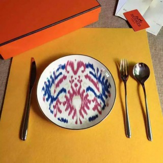 Тарелка десертная Hermes Voyage en Ikat 20,5 см (7364) -