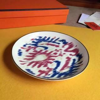 "Тарелка десертная HERMES ""VOYAGE EN IKAT"" 20.5 см -"