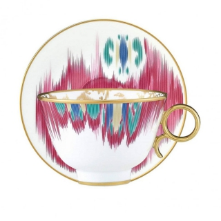 "Набор чайных пар HERMES ""VOYAGE EN IKAT"" (150 мл.) -"