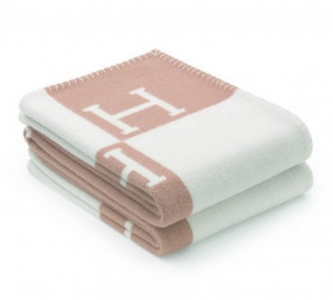 Плед Hermes baby pink 8367