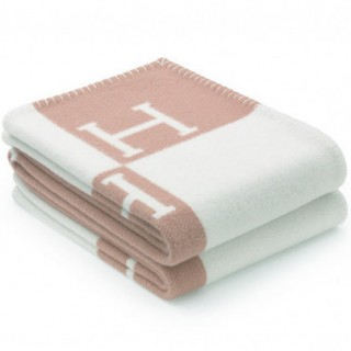 Плед Hermes baby pink 8367 -