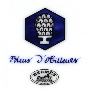 "Тарелка закусочная HERMES ""BLEUS D'AILLEURS"" 17 см -"