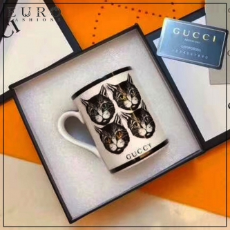 Кружка GUCCI FOUR CATS WHITE