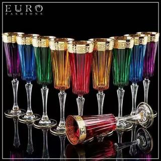Бокалы цветные для шампанского HERMES -