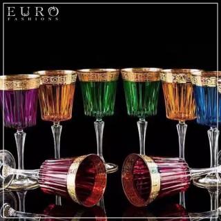Бокалы цветные для вина HERMES 1 -